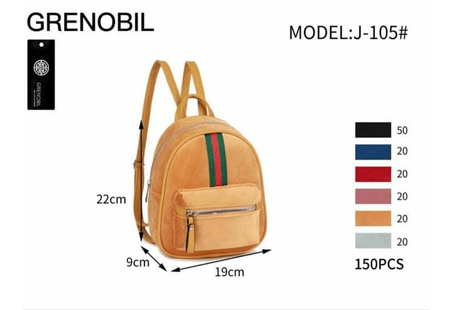 MOCHILITA JUVENIL DAMA  MODEL: J-105# 🌿