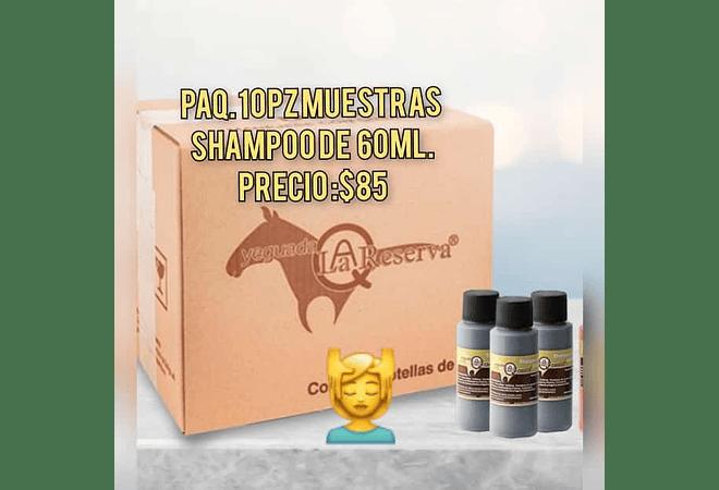 PAQ 10 PZ DE MUESTRAS SHAMPOO YEGUADA