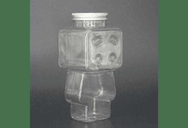 BOTE ROBOT CON TAPA 🤖(no incluye caja)