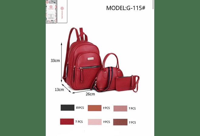 JUEGO 3PCS MOCHILA GRENOBIL MODEL #G-115 🍓