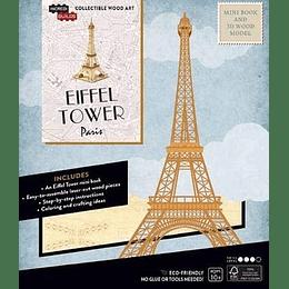 Paris: Eiffel Tower - Mini Book And 3D Wood Model (Libros En Ingles)