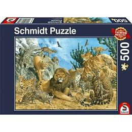 Puzzle Grandes Felinos 500 Piezas