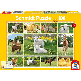 Puzzle Animalitos De Granja 100 Piezas
