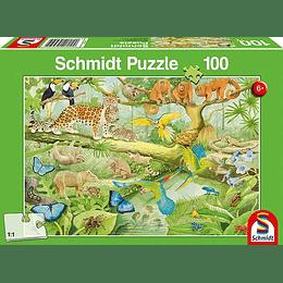 Puzzle Animalitos De La Selva 100 Piezas