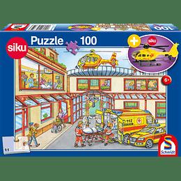 Puzzle Helicoptero De Rescate 100 Piezas Incluye Figura