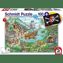 Puzzle Piratas 100 Piezas Incluye Banderita