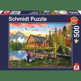 Puzzle Pesca En El Lago 500 Piezas