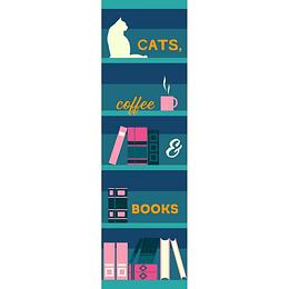 Marcapagina Cats Coffe Books