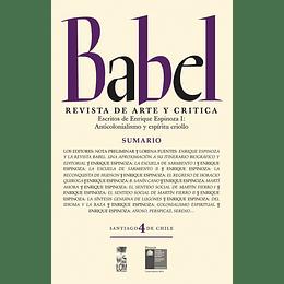 Babel 4 Revista De Arte Y Critica