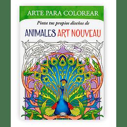 Arte Para Colorear. Animales Art Nouveau