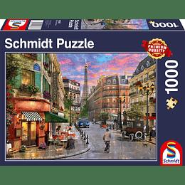 Puzzle Calle A La Torre Eiffel 1000 Piezas