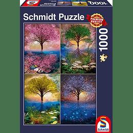 Puzzle Cuatro Arboles 1000 Piezas