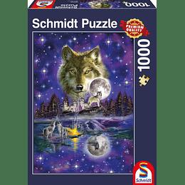 Puzzle Lobo Y La Luna 1000 Piezas