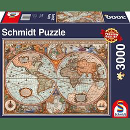 Puzzle Mapa Del Mundo 3000 Piezas