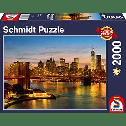 Puzzle Atardecer New York 2000 Piezas