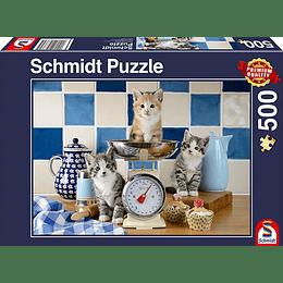 Puzzle Gatitos En La Cocina 500 Piezas