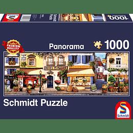 Puzzle Panorama Paseando Por Paris 1000 Piezas