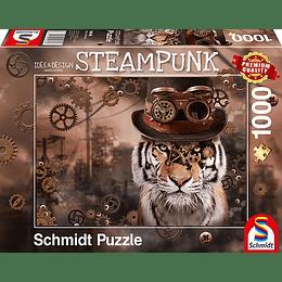 Puzzle Tigre Steampunk 1000 Piezas