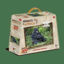 Puzzle Animales De Africa 100 Piezas Gorila