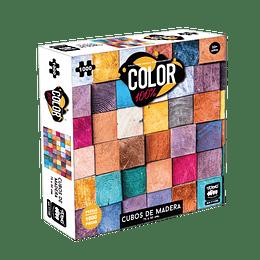 Puzzle Color 1000 Piezas Cubos De Madera