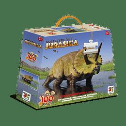 Puzzle 100 Piezas Dinosaurio Triceratops Horridus