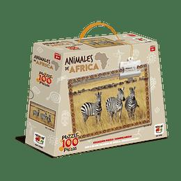 Puzzle Animales De Africa 100 Piezas Cebra