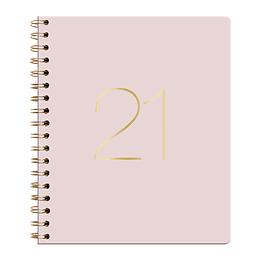 Agenda Ecocuero Diaria Cuaderno 2021 Rosado
