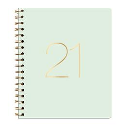 Agenda Ecocuero Diaria Cuaderno 2021 Celeste
