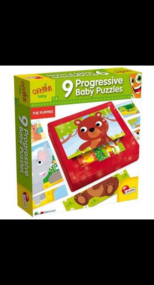 9 Progressive Puzzles Cachorros
