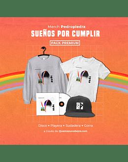 Pack Pedropiedra Sueños x Cumplir: Disco Aló + Playera + Sudadera + Gorra. (Disponible solo para México)