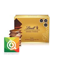 Lindt Chocolate en Laminas Negro Swiss Thins
