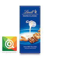 Lindt Chocolate Barra de Leche y Almendras- Swiss Classic