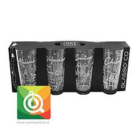 Glasso Set 4 Vasos Chile Colection