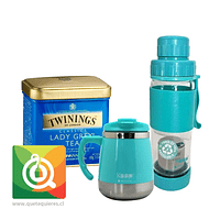 Pack Twinings Té Negro Lady Grey + Keep Mug y Botella de Vidrio
