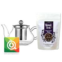 Pack Soul Tea Infusión +  Tetera Vidrio
