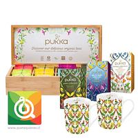 Pack Pukka Infusiones y Té + 2 Tazas + Caja de Madera