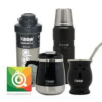 Pack Keep Black botella + Matero + Taza + Termo