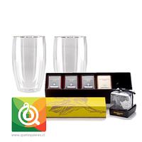 Pack Dammann 4 Tés Surtidos + 2 Vasos Glasso