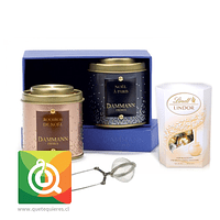 Pack Dammann Té Negro y Rooibos + Lindt Chocolate Bombón + Infusor