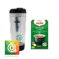 Pack Yogi Té Verde Energía + Keep Mug Infusor Negro
