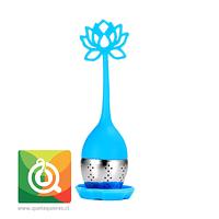 Infusor Para Té de Silicona Celeste -  Flor de Loto