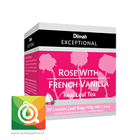 Dilmah Exceptional Té Negro Rose With French Vanilla 20 Pirámides