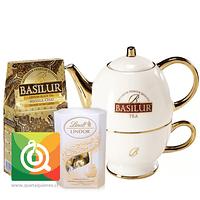 Pack Basilur Masala Chai + Tetera con Taza + Lindt Chocolate Bombón