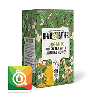 Heath & Heather Té Verde Orgánico Con Miel Manuka