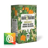 Heath & Heather Té Verde Orgánico Con Flor De Naranja