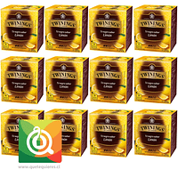 Twinings Té Negro Con Limón - Lemon Scented Pack 12