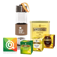 Pack Twinings Surtido de Tes + Infusor Café