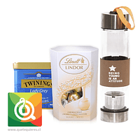 Pack Twinings Té Negro Lady Grey + Lindt Chocolate Bombon + Infusor Café