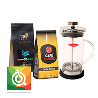 Pack Oroley Cafetera Spezia + Cafés Caribe y Marley Coffee