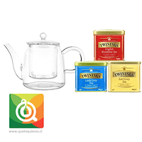 Pack Oroley Tetera Livorno + Twinings Tés Negros
